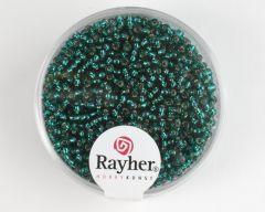 Glasparel 2 mm 17 g jadegroen met zilverkern