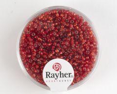 Glasparel 2 mm 17 g rood met zilverkern