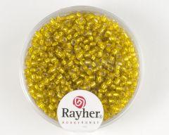 Glasparel 2 mm 17 g geel met zilverkern