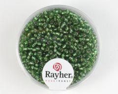 Glasparel 2 mm 17 g donkergroen met zilverkern