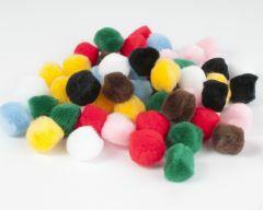 Pompon 20 mm 50 stuks assortiment kleuren