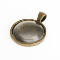 Hanger met cabochon rond 2,2 cm oud goud