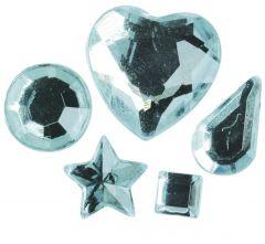 Strass acryl klevend 58 stuks lichtblauw