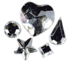 Strass acryl klevend 58 stuks kristal