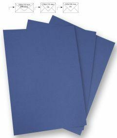 Papier A4 220 g 5 stuks royalblauw