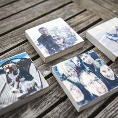 DIY-workshopdoos: Foto's op hout