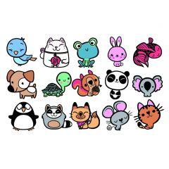 Stampo Kids stempels 15 stuks + inkt dieren cartoon