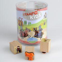 Stampo Kids stempels 15 stuks + inkt ridders