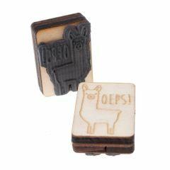 Beloningsstempel 3 cm Oeps - alpaca