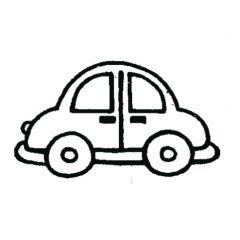 Stempel 4 x 4 cm auto