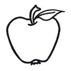 Stempel 4 x 4 cm appel