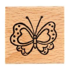 Stempel 4 x 4 cm vlinder