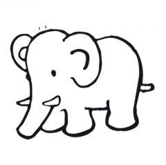 Stempel 4 x 4 cm olifant