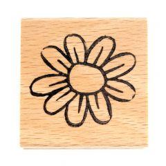 Stempel 4 x 4 cm bloem