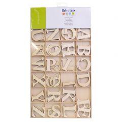 Houten letters 6 cm 130 stuks