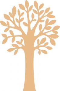 Houten figuurtje boom 10 cm 3 stuks