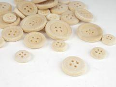 Houten knopen 12-17-22 mm 30 stuks assortiment