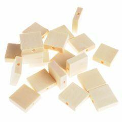 Houten kralen vierkant plat 15 x 4,7 mm 30 stuks