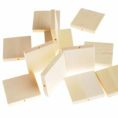 Houten kralen vierkant plat 30 x 4,7 mm 12 stuks