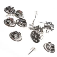 Pins 10 mm 10 stuks zilverkleurig