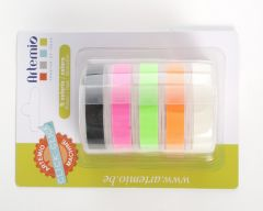 Labelmaker tape 5 x 2 m 9 mm breed fluo