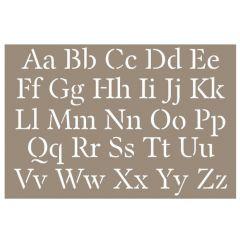 Sjabloon alfabet 10 x 15 cm klassiek