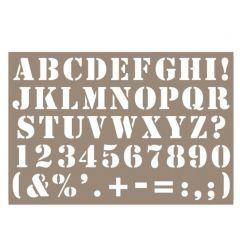 Sjabloon alfabet 10 x 15 cm dik