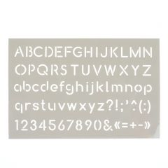 Sjabloon alfabet 10 x 15 cm recht
