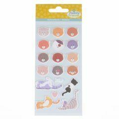 Stickers puffy 18 stuks poezen