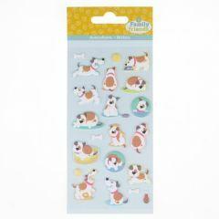 Stickers puffy 21 stuks honden