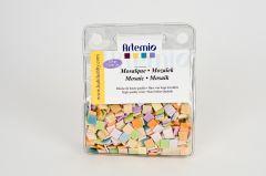 Mozaïek mat 10 x 10 mm 225 g pasteltinten