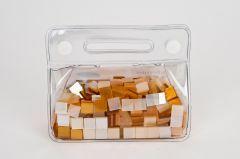 Mozaïek glans 10 x 10 mm 150 g assortiment goud