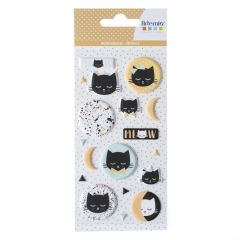 Puffy stickers Terrazzo Cat