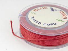 Katoenwaxkoord 0,7 mm 10 m rood
