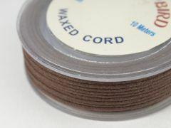 Katoenwaxkoord 1 mm 10 m middenbruin