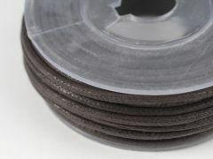 Katoenwaxkoord 2 mm 10 m donkerbruin