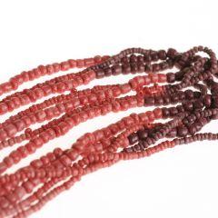 Glazen kralen mix rood