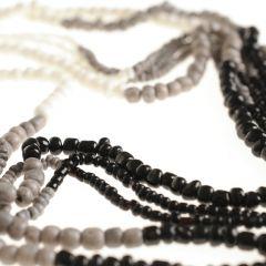 Glazen kralen mix wit/zwart