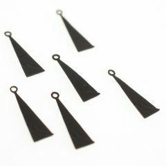 Hanger metaal driehoek 17 mm 6 stuks mat zwart