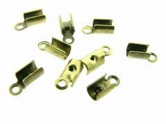 Lederklem 3 mm 6 stuks antiek goud