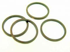 Schakel rond 15 mm 10 stuks antiek koper