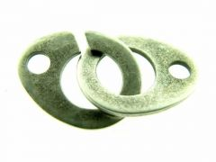 Haakslot 2 stuks antiek zilver