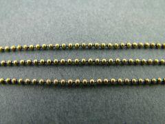 Ketting bolletjes 1 mm 2 m antiek goud