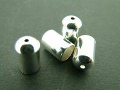 Eindkapje 6 x 11 mm 2 stuks zilver glanzend