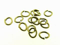O-ring ovaal 4 x 5 mm 5 g antiek goud