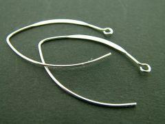 Oorhaak ellips 37 mm 4 stuks zilver glanzend
