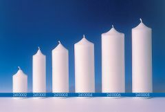 Kaarsvorm cilinder 7 x 18,5 cm