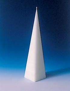 Kaarsvorm 4-hoekige piramide 6 x 22,8 cm