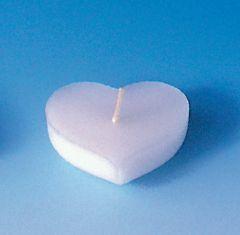 Drijfkaarsvorm 6 stuks hart
