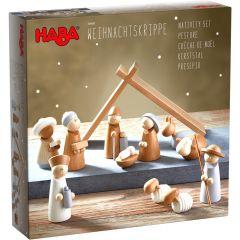 Haba kerststal in sober hout 12-delig